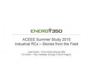 Chris Smith - 2015 ACEEE Industrial RCx Presentation