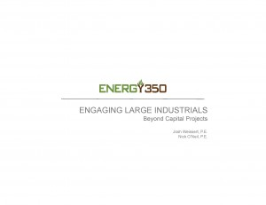 Josh Weissert - 2015 ACEEE Engaging Industrials Presentation