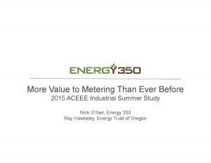 Nick O'Neil - 2015 ACEEE Metering Presentation