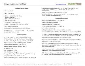 Energy Cheat Sheet